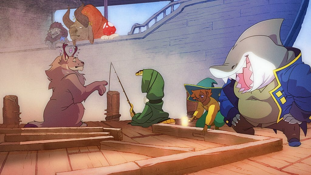 Still from Spiritfarer's trailer, animated by Knights of the Light Table.