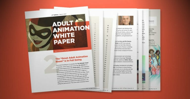 Adult Animation White Paper by John Evershed, sponsored by Toon Boom Animation.